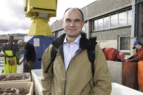 KAN FÅ ANSVAR FOR ET NYTT FOREDLINGSANLEGG :  Per Gunnar Hansen har fått signaler fra Lerøy Norway Seafoods at man planlegger å bygge et nytt og moderne anlegg i Båtsfjord. En avgjørelse på om det blir investert 400 millioner vil bli tatt til våren.