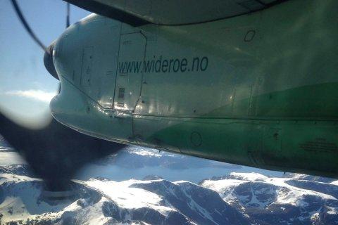 FLØY OVER: Flyet som etter planen skulle lande på Banak klokken 06:15 ble innstilt. (Illustrasjonsbilde: Anniken Renslo Sandvik)