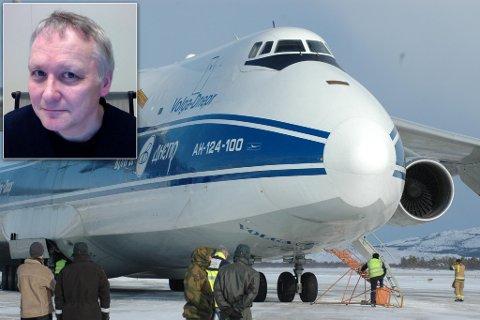 VIL HA DENNE TRAFIKKEN: Her landet et russisk Antonov 124, lastet med tyske soldater og kjøretøy, på Banak i 2007. Om rullebanen kortes ned, kan ikke dette flyet lande her. Arkivfoto.