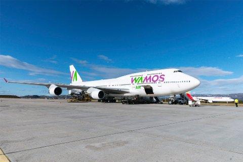 KAN LANDE: Opprettholdelsen av rullebanelengden på Lakselv lufthavn Banak betyr at flyplassen også i fremtiden kan ta i mot store flymaskiner, slik som Boeing 747 Jumbojet.