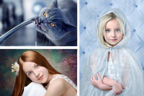 Disse tre fotografiene fikk Natasha Busel hederlig omtale for i Norges Fotografforbunds landskonkurranse. (Foto: Natasha Busel - Montasje)