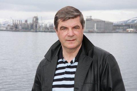 KLAR: Alf E. Jakobsen sier alt nå ligger til rette for å gå igang med sammenslåingen av Hammerfest og kvalsund kommuner.