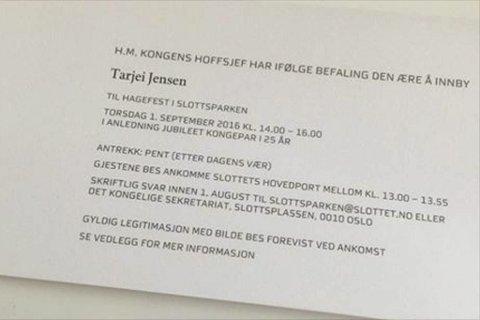 ROYALINVITASJON: Tarjei Jensen Bech ser fram til å ta del i den kongelige hagefesten til høsten.Foto: Privat