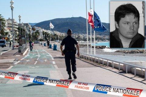 NICE-TERROR: Stein Mathisen fra Vadsø er på ferie i Nice sammen med familien. Vadsømannen er til daglig viseadministrerende direktør i Varanger Kraft. Fotomontasje. Foto: Paul Kleiven / NTB scanpix / Privat