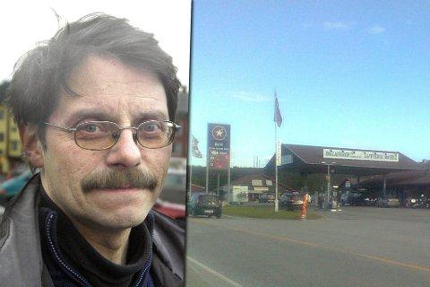 HOLDER STAND: Tross skarp konkurranse fra Hammerfest, Alta og Lakselv, holder bensinstasjonen ute i distriktet «koken». Fotomontasje.