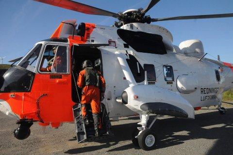 Sea King og redningsfartøyet Odin på øvelse