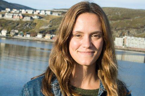 Journalist Line Haglund hadde sin første dag på jobb for Finnmark Dagblad mandag 26. september.