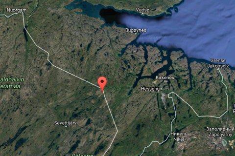 SAVNET: Finnen Sampsa Wesslin er savnet i dette området, like ved grensen til Øst-Finnmark.