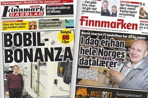 FRI TILGANG: Alle som abonnerer på Finnmark Dagblad og Finnmarken har tilgang til iFinnmark og papiravisene i eAvis-format.