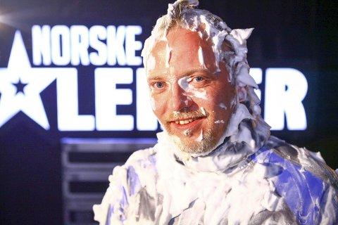 Gunnar Berg (40) fra Vadsø skal rett og slett overraske og overbevise dommerne med et stunt under premieren av Norske Talenter fredag den 13. januar. Foto: TV 2