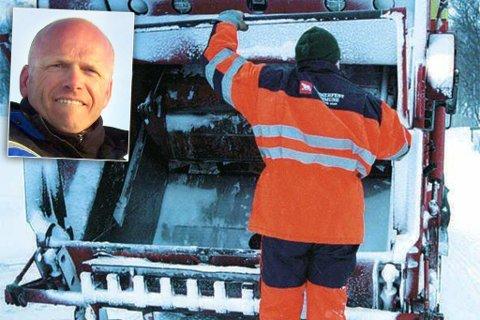 Illustrasjonsfoto Kvaløya Avfallsselskap - søppelbil - søppel - renovasjon.T             Marie Heggelund