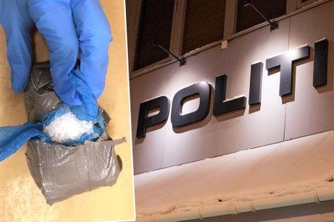 BELASTNING: Politiet beslagla denne pakken og plasserte mistenkt mann i varetekt på Alta lensmannskontor. Det viste seg at han var uskyldig, ifølge mannens forsvarer.