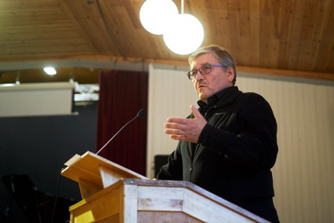 TILBAKE PÅ TALERSTOLEN: Vadsølistaleder Bernt-Aksel Jensen er tilbake på talerstolen i Vadsø kommunestyre torsdag 26. oktober.