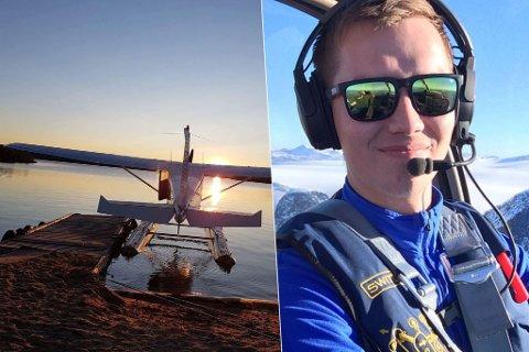 FLYGER: Per Helge Mannsverk er klar for «take off» når tid som helst. Montasje.