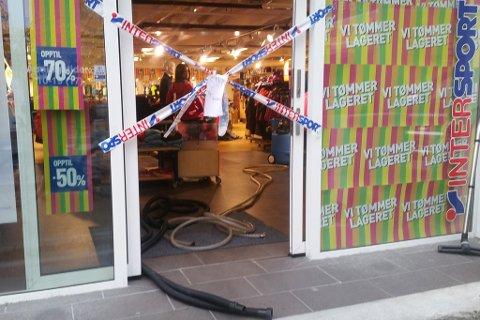 AVSTENGT: Butikken har stengt dørene.