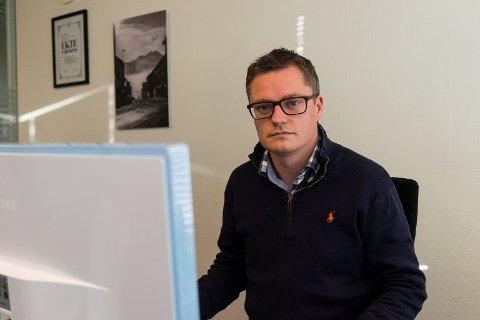 Anmelder saken: Sjefredaktør i Fremover, Christian Senning Andersen. Foto: Andreas Haakonsen