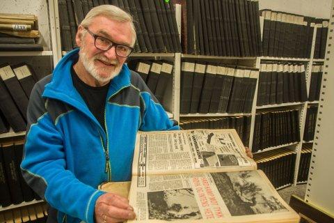 """PÅ STEDET: """"Sambandet var dårlig. Heten nesten umenneskelig"""" rapporterte Svein G Jørstad i FD, som eneste journalist på stedet da Finnmarksvidda brant i 1972."""