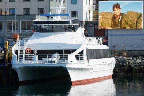 LEI: Hans Ole Sandring har fått nok av innstillinger på grunn av teknisk feil. Illustrasjonsfoto, MF Lurøy går strekninga som reserveferge.
