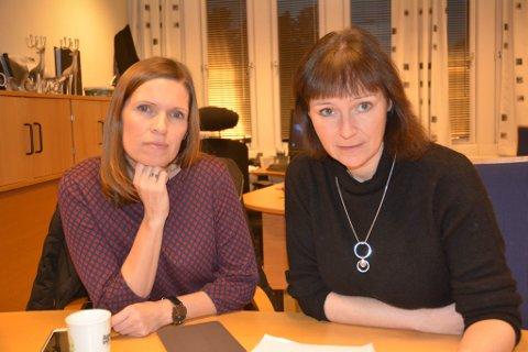 Ordfører i Alta Monica Nielsen og ordfører i Lebesby Stine Akselsen. Foto: Anita Bakk Henriksen