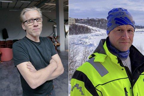 RISIKERER STORE TAP: Fred Fiskebeck og Svein Sundquist sine bedrifter leverte tjenester til det nye sykehuset, og skulle få betalt av Kirkenes Byggservice.