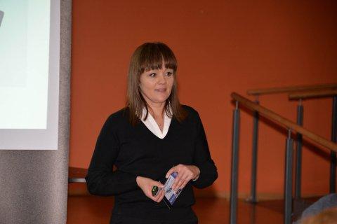 I ALTA: Kristine Jørstad Bock i FlyViking var i november til stede på frokostmøte i regi av Alta næringsforening på Kunnskapsparken.