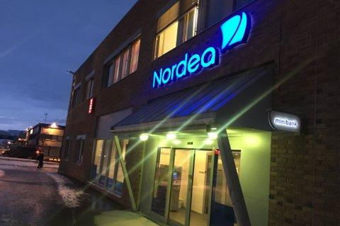 FLYTTER: Nordea skal ikke lenger ha bemannet kontor her.