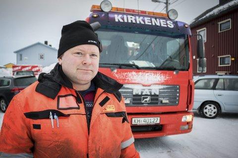 HEKTISK: Runar Pettersen måtte bistå flere bilister fredag kveld og lørdag. Arkivfoto: Stian Hansen