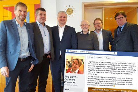 – BORTKASTET BRUK AV ENERGI: Forrige torsdag besøkte Jo Inge Hesjevik (H), Bengt Rune Strifeldt (Frp), Bjørn Søderholm (tidligere Høyre-ordfører i Porsanger), Trond Davidsen (Sjømat Norge) og Arthur Kordt (Cruisenæringen) Samferdselsdepartementet og Tom Cato Karlsen (Frp). Ordfører Aina Borch (Ap) mener arbeidet og kravet om 93 millioner til Banak er bortkastet bruk av energi.