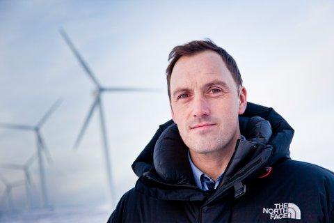 FORNØYD: Egon Leonhardsen hos Finnmark Kraft er godt fornøyd med de gode resultatene på Havnefjell i Båtsfjord.