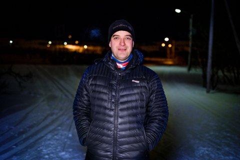 FORNØYD: Andreas Rystrøm aier at Vadsø Skiklubb (VSK) ikke har fått et offisielt svar fra Vadsø Kommune enda, men han kan fortelle at VSK er storfornøyd med vedtaket. (Bildet er tatt ved en annen anledning).