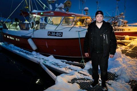 Freddy Kristiansen (44) sluttet som daglig leder av Radioservice etter 15 år, kjøpte seg sjark og begynte som fisker.