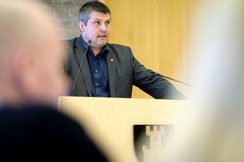 Fylkestingsrepresentant Bengt Rune Strifeldt (Frp), fylkestinget torsdag 15. mars.