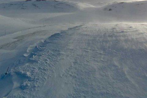 Slik så det ut på Ifjordfjellet søndag morgen.