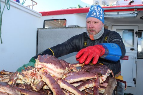 TURISTMAGNET: Kongekrabben og sjømat rett opp fra Varangerfjorden er det som trekker turister fra hele verden til Edgar Olsen i Nesseby.