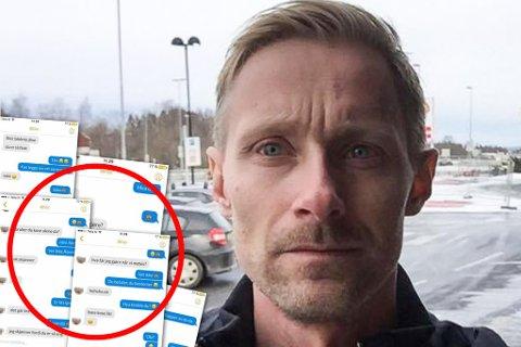 CHATTET: Mannen trodde at han chattet med en 13-år gammel jente. I stedet chattet han med Stefan Dahlgren (avbildet) i Barnas Trygghet. Montasje.