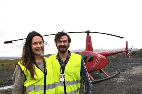LØFTER ALT(A): Eirin Apalseth og Janus Andersen flytter til Alta for å satse helikoptertransport.