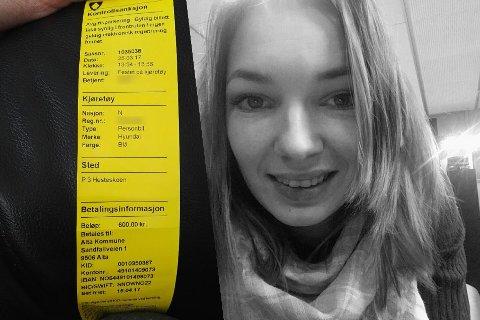 LETTA: Irene Schønning er glad hun dobbelsjekket parkeringsboten hun fikk før påske. Den tilhørte nemlig ikke hennes bil.