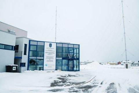 Arkivfoto av sjøtrafikksentralen i Vardø
