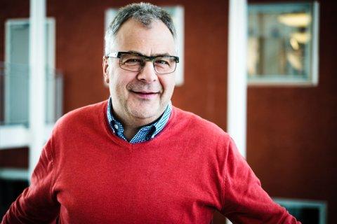 GIR OPP: Terje Solheim, daglig leder, AkerBPs avdeling i Harstad, sier at de er på tur ut av Barentshavet. Det siste funnet var for lite til at det er drivverdig.