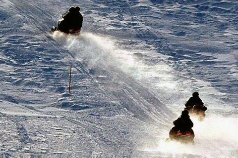 BEITEKRISE: Fylkesmannen har vært nødt til å stenge flere scooterløyper rundt omkring i Finnmark. Se oversikten over hvilke løyper som er stengt, eller delvis stengt.
