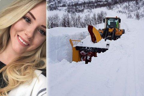 NEDSNØDD: I fjor var det ikke så mye snø som dette, ifølge Susanne Utse Olsen (inndelt). Montasje.