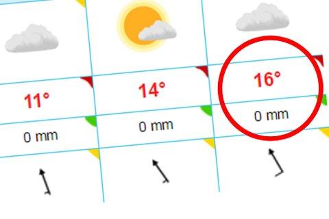 VARMT: I neste uke vil temperaturene stige. I Karasjok kan det bli så varmt som 16 grader.