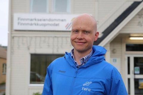 DELTOK PÅ FOLKEMØTE: Einar J. Asbjørnsen, leder i Finnmarkseiendommens utmarksavdeling.