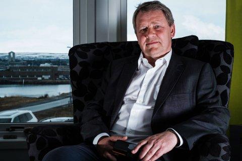 VIL IKKE BETALE: Konserndirektør i Varanger kraft, Terje Skansen, går ikke med på at de skal betale anleggsbidrag for den nye linja mellom Lebesby og Seidafjellet. – Vi er ikke imot anleggsbidrag når det er berettiget.