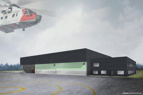 NY BASE: Her skal redningshelikoptertjenesten lande i framtiden.