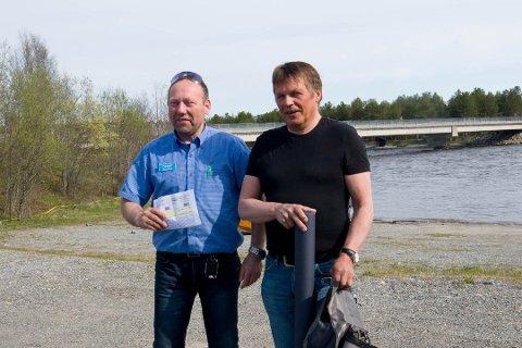 OVERRASKET: Oddleif Eriksen og Paul Hammari ble overrasket når de fikk beskjed om at de vant.