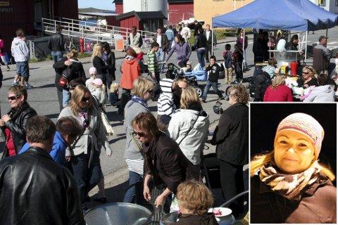 FØRSTE GANG: Gry Anita Kristiansen innfelt) er arrangør for Pomorfestivalen for aller første gang. Men festivalen er gammel og kjær for vardøværingene, og i år er den tilbake i Strandgata, som da dette bildet ble tatt.