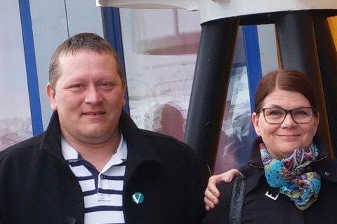 VENSTREMANN: Tor Mikkola er Venstremann utenfor sametingsvalget. Her sammen med partikollega Trine Noodt. På Sametinget er han ny representant for Nordkalottfolket.
