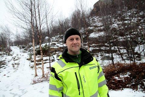 FÅR AVSLAG: Svein Sundquist, daglig leder i Sunquist Eiendom, søkte allerede i 2013 om å etablere et massedeponi i Prestøyfjæra. Han fikk et positivt svar fra kommunen den gang, men tre år senere har kommunen snudd.