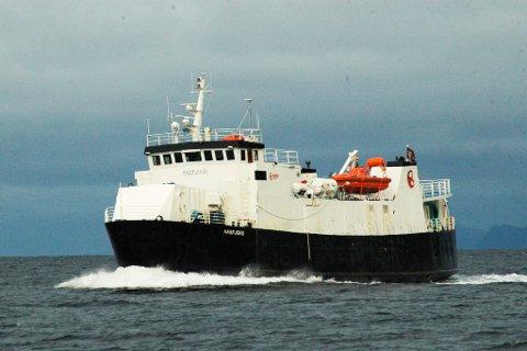 DROPPES: Den 40 år gamle MF «Hasfjord» skal ikke lengre være reserveferge i fergesambandene i Loppa og Hasvik.